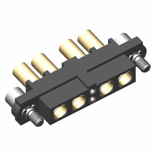 M80-4C10242F2-02-327-02-327 - 2+4 Pos. Female 24-28AWG+16AWG Cable Conn. Kit, Jackscrews