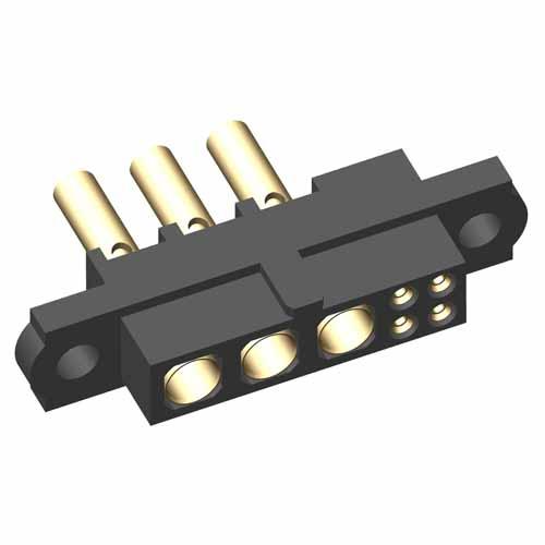 M80-4C1040500-03-328-00-000 - 4+3 Pos. Female 24-28AWG+18AWG Cable Conn. Kit, No Jackscrews