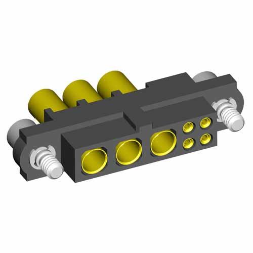 M80-4C10405F2-03-325-00-000 - 4+3 Pos. Female 24-28AWG+12AWG Cable Conn. Kit, Jackscrews