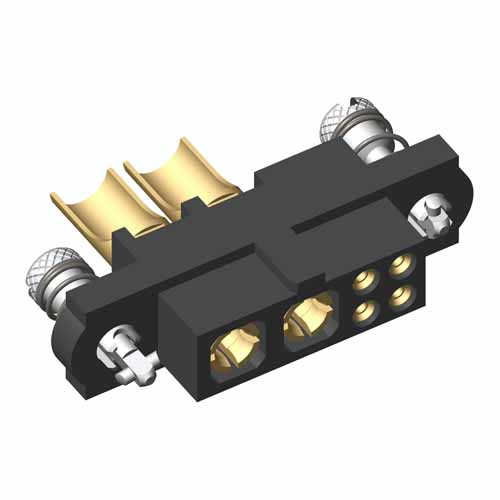 M80-4C10405FC-02-PF5-00-000 - 4+2 Pos. Female 24-28AWG+10AWG Cable Conn. Kit, 101Lok