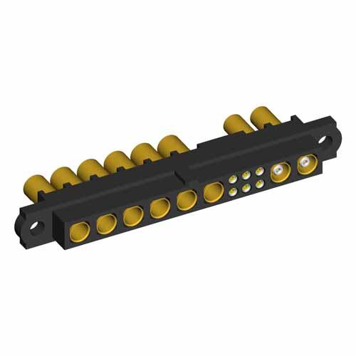M80-4C1060500-06-325-02-305 - 6+6+2 Pos. Female 24-28AWG+12AWG+RG178 Cable Conn. Kit, No Jackscrews