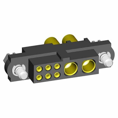 M80-4C10605F1-00-000-02-327 - 6+2 Pos. Female 24-28AWG+16AWG Cable Conn. Kit, Jackscrews