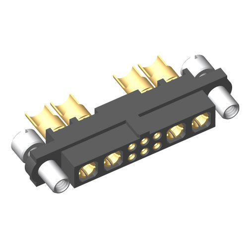M80-4C10605F8-02-PF5-02-PF5 - 6+4 Pos. Female 24-28AWG+10AWG Cable Conn. Kit, Reverse Fix