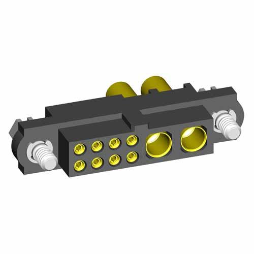 M80-4C10805F1-00-000-02-327 - 8+2 Pos. Female 24-28AWG+16AWG Cable Conn. Kit, Jackscrews