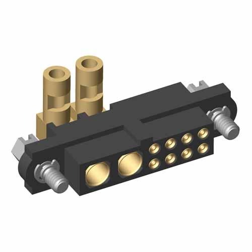 M80-4C10805F1-02-32C-00-000 - 8+2 Pos. Female 24-28AWG+16AWG Cable Conn. Kit, Jackscrews