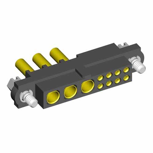 M80-4C10805F1-03-328-00-000 - 8+3 Pos. Female 24-28AWG+18AWG Cable Conn. Kit, Jackscrews