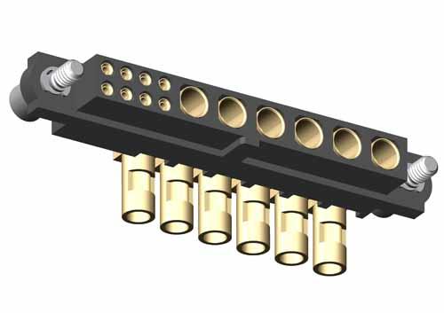 M80-4C10805F2-06-32B-00-000 - 8+6 Pos. Female 24-28AWG+14AWG Cable Conn. Kit, Jackscrews