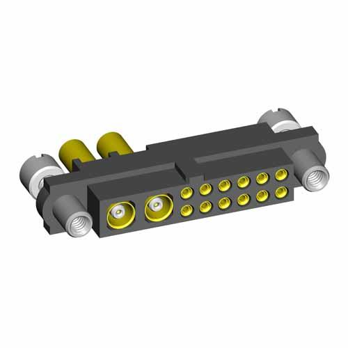 M80-4C11205F9-02-305-00-000 - 12+2 Pos. Female 24-28AWG+RG178 Cable Conn. Kit, Reverse Fix