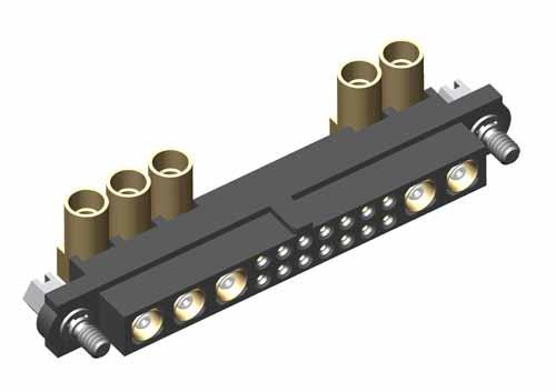 M80-4C11442F1-03-309-02-309 - 14+5 Pos. Female 24-28AWG+RG174/179/316 Cable Conn. Kit, Jackscrews