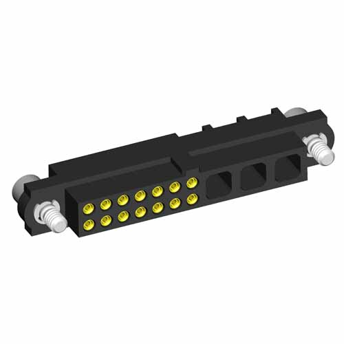 M80-4C114F2-03-000 - 14+3 Pos. Female 24-28AWG Cable Conn. Kit, Jackscrews