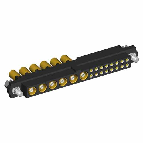 M80-4C11642F1-06-305-00-000 - 16+6 Pos. Female 24-28AWG+RG178 Cable Conn. Kit, Jackscrews
