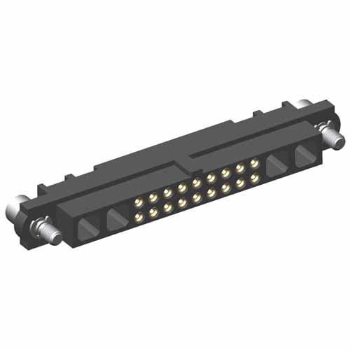 M80-4C11805F2-02-000-02-000 - 18+4 Pos. Female 24-28AWG Cable Conn. Kit, Jackscrews