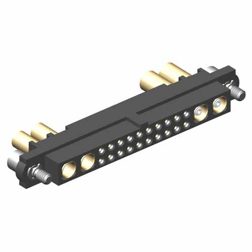 M80-4C12042F2-02-326-02-307 - 20+2+2 Pos. Female 24-28AWG+14AWG+RG174/179/316 Cable Conn. Kit, Jackscrews
