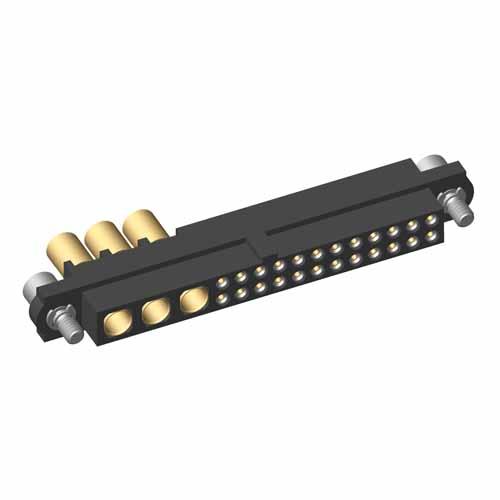 M80-4C12442F2-03-325-00-000 - 24+3 Pos. Female 24-28AWG+12AWG Cable Conn. Kit, Jackscrews
