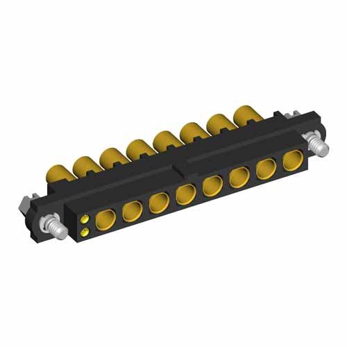 M80-4D10205F1-00-000-08-327 - 2+8 Pos. Female 22AWG+16AWG Cable Conn. Kit, Jackscrews