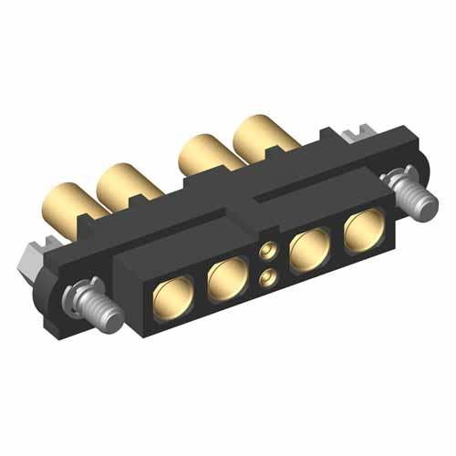 M80-4D10205F1-02-327-02-327 - 2+4 Pos. Female 22AWG+16AWG Cable Conn. Kit, Jackscrews