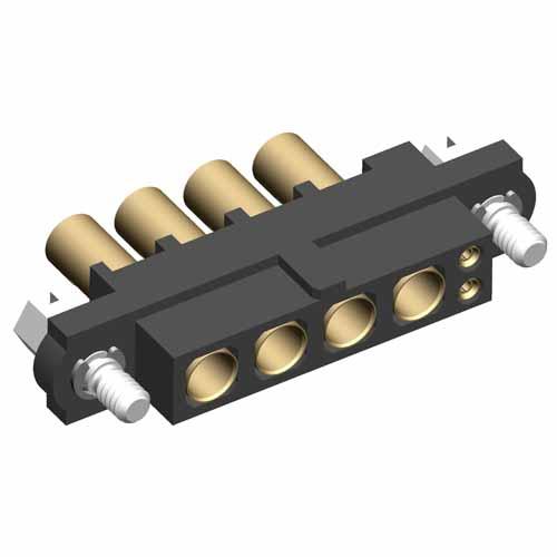 M80-4D10205F1-04-327-00-000 - 2+4 Pos. Female 22AWG+16AWG Cable Conn. Kit, Jackscrews