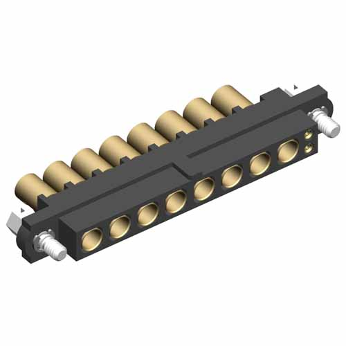 M80-4D10205F1-08-325-00-000 - 2+8 Pos. Female 22AWG+12AWG Cable Conn. Kit, Jackscrews