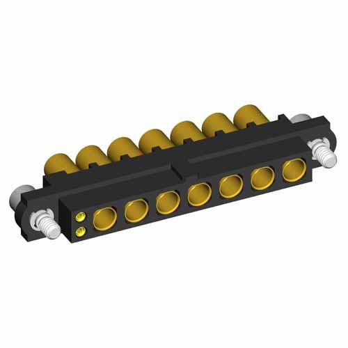 M80-4D10205F2-00-000-07-325 - 2+7 Pos. Female 22AWG+12AWG Cable Conn. Kit, Jackscrews