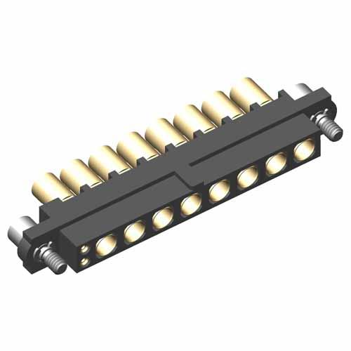 M80-4D10205F2-00-000-08-325 - 2+8 Pos. Female 22AWG+12AWG Cable Conn. Kit, Jackscrews