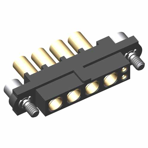 M80-4D10205F2-04-327-00-000 - 2+4 Pos. Female 22AWG+16AWG Cable Conn. Kit, Jackscrews