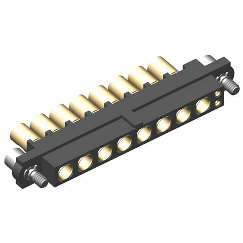 M80-4D10205F2-08-325-00-000 - 2+8 Pos. Female 22AWG+12AWG Cable Conn. Kit, Jackscrews