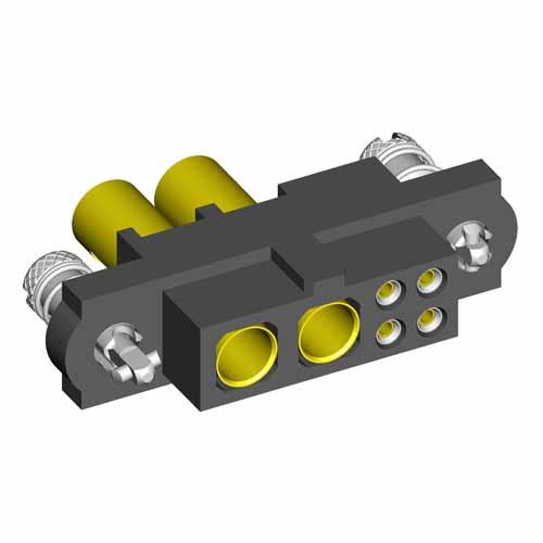 M80-4D10442FC-02-325-00-000 - 4+2 Pos. Female 22AWG+12AWG Cable Conn. Kit, Jackscrews