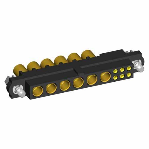 M80-4D10605F1-06-325-00-000 - 6+6 Pos. Female 22AWG+12AWG Cable Conn. Kit, Jackscrews