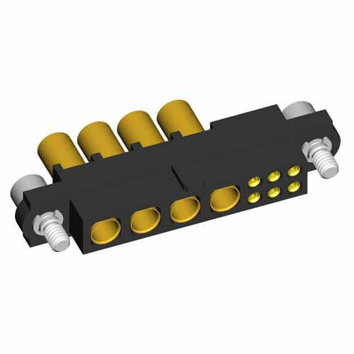 M80-4D10605F2-04-325-00-000 - 6+4 Pos. Female 22AWG+12AWG Cable Conn. Kit, Jackscrews