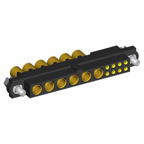 M80-4D10805F1-06-325-00-000 - 8+6 Pos. Female 22AWG+12AWG Cable Conn. Kit, Jackscrews