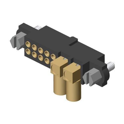 M80-4D11005F1-02-309-00-000 - 10+2 Pos. Female 22AWG+RG174/179/316 Cable Conn. Kit, Jackscrews