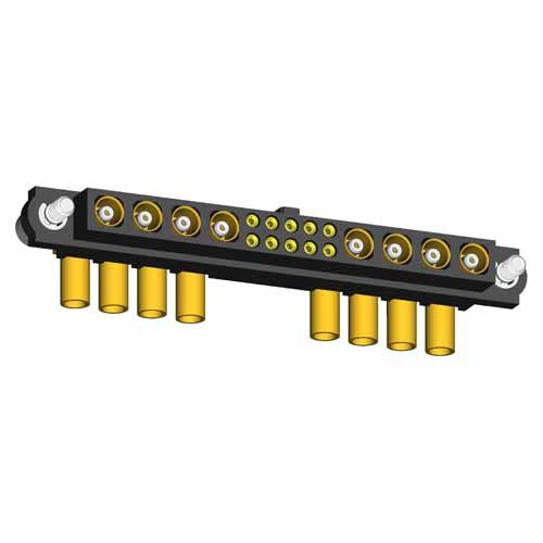 M80-4D11005F2-04-308-04-308 - 10+8 Pos. Female 22AWG+RG178 Cable Conn. Kit, Jackscrews
