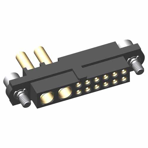 M80-4D11205F2-02-329-00-000 - 12+2 Pos. Female 22AWG+20AWG Cable Conn. Kit, Jackscrews