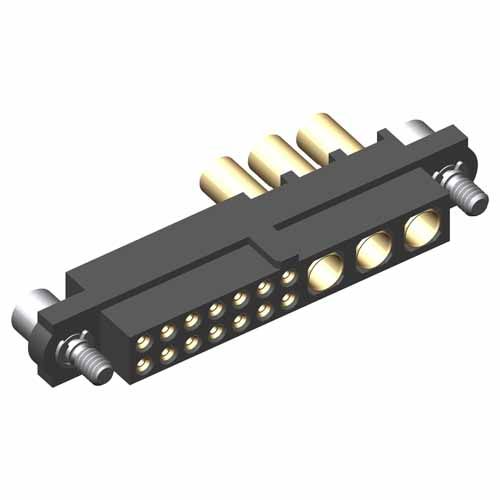 M80-4D11405F2-00-000-03-327 - 14+3 Pos. Female 22AWG+16AWG Cable Conn. Kit, Jackscrews