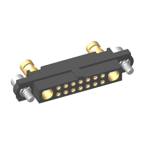 M80-4D11405F2-01-325-01-325 - 14+2 Pos. Female 22AWG+12AWG Cable Conn. Kit, Jackscrews