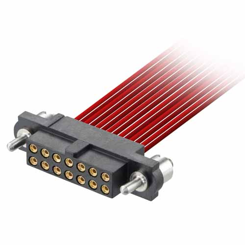 M80-4E10642F3 - 3+3 Pos. Female DIL 28-32AWG Cable Conn. Kit, Guide Pin