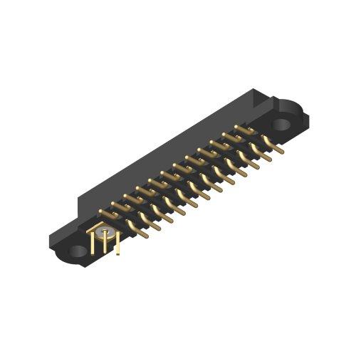 M80-4S1240500-01-301-00-000 - 24+1 Pos. Female Signal+Coax Vertical SMT Conn. No Jackscrews