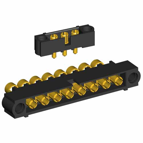 M80-500000000-10-319-00-000 - 10 Pos. Male SIL RG174/179/316 Cable Conn. Kit, No Jackscrews