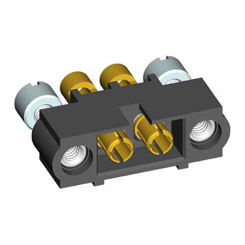 M80-5000000M3-02-337-00-000 - 2 Pos. Male SIL 16AWG Cable Conn. Kit, Jackscrews