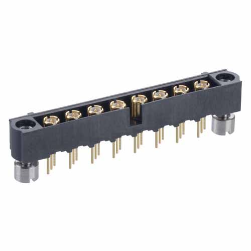M80-5000000M3-08-312-00-000 - 8 Pos. Male SIL Vertical Throughboard Conn. Jackscrews