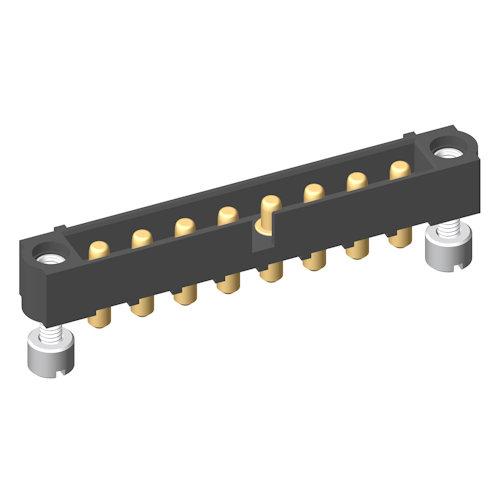 M80-5000000M3-08-PM1-00-000 - 8 Pos. Male SIL Vertical Throughboard Conn. Jackscrews