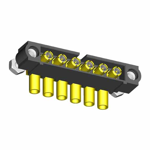 M80-5000000MF-06-319-00-000 - 6 Pos. Male SIL RG174/179/316 Cable Conn. Kit, Jackscrews