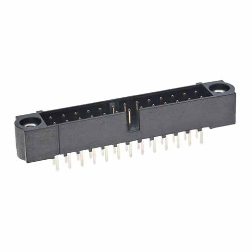 M80-5002622 - 13+13 Pos. Male DIL Vertical Throughboard Conn. Jackscrews