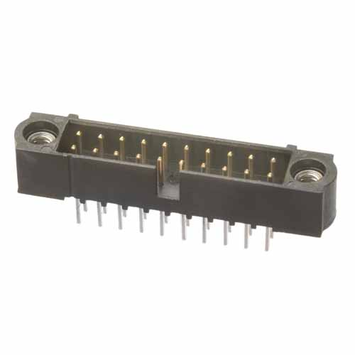 M80-5012605 - 13+13 Pos. Male DIL Vertical Throughboard Conn. Jackscrews