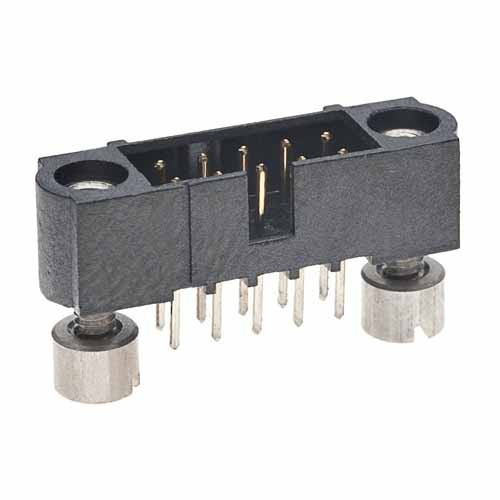 M80-5101022 - 5+5 Pos. Male DIL Vertical Throughboard Conn. Jackscrews