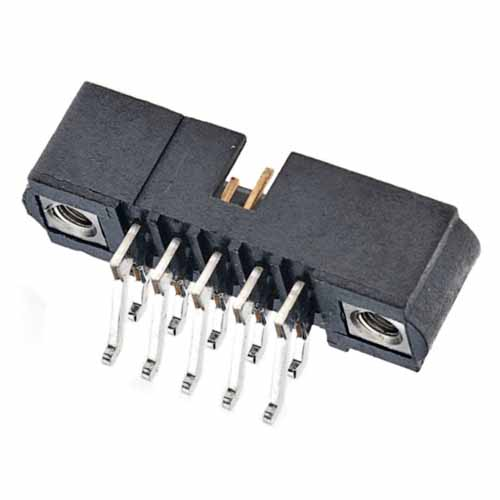 M80-5321005 - 5+5 Pos. Male DIL Horizontal SMT Conn. Jackscrews