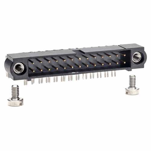 M80-5402622 - 13+13 Pos. Male DIL Horizontal Throughboard Conn. Jackscrews