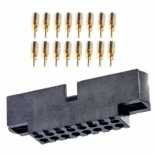M80-5701605 - 8+8 Pos. Male DIL 22AWG Cable Conn. Kit, No Jackscrews