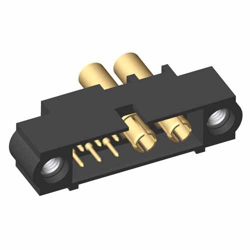 M80-5C10605M1-02-337-00-000 - 6+2 Pos. Male 24-28AWG+16AWG Cable Conn. Kit, Jackscrews