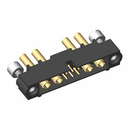 M80-5C10605M3-02-339-02-339 - 6+4 Pos. Male 24-28AWG+20AWG Cable Conn. Kit, Jackscrews
